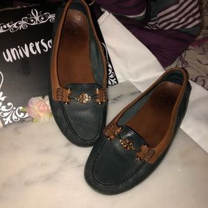 LEATHER TORY BURCH LOAFERS DRIVING SHOES 10 .5